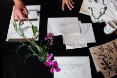 Tisch für die Kalligraphie