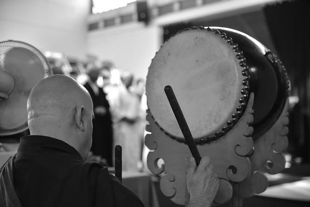 Drums bei der Rezitation der Sutren