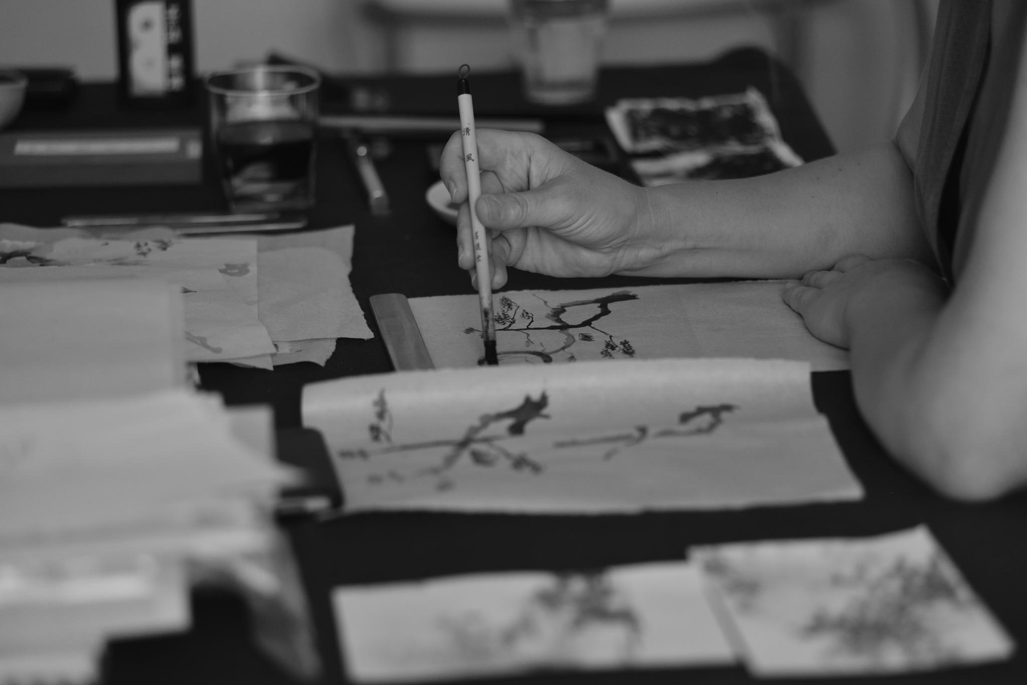 Kalligrafieren von Rakusus
